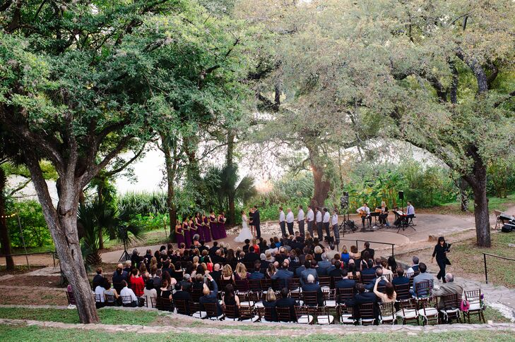 The ceremony venue's natural beauty didn't require much extra décor.