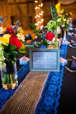 Harry-Potter-House-Themed Table Names