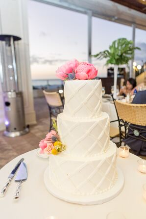 Crosshatch Fondant Wedding Cake