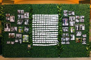Moss and Greenery Escort Card Display