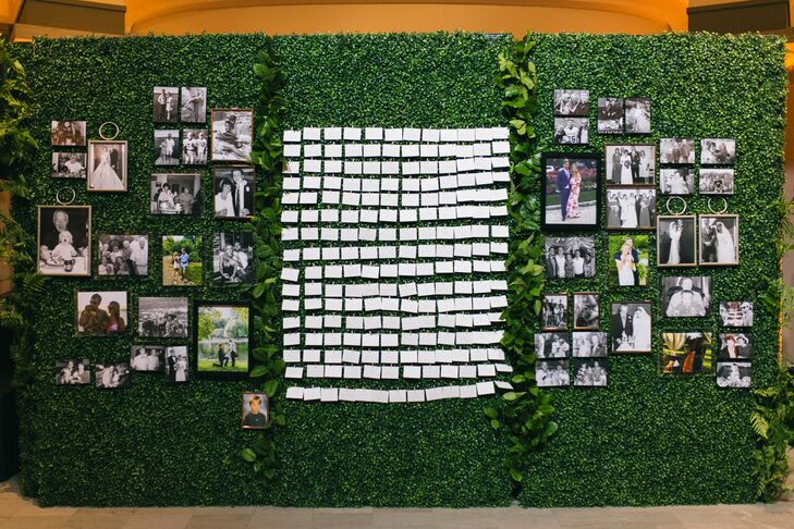Moss and Greenery Escort Card Display