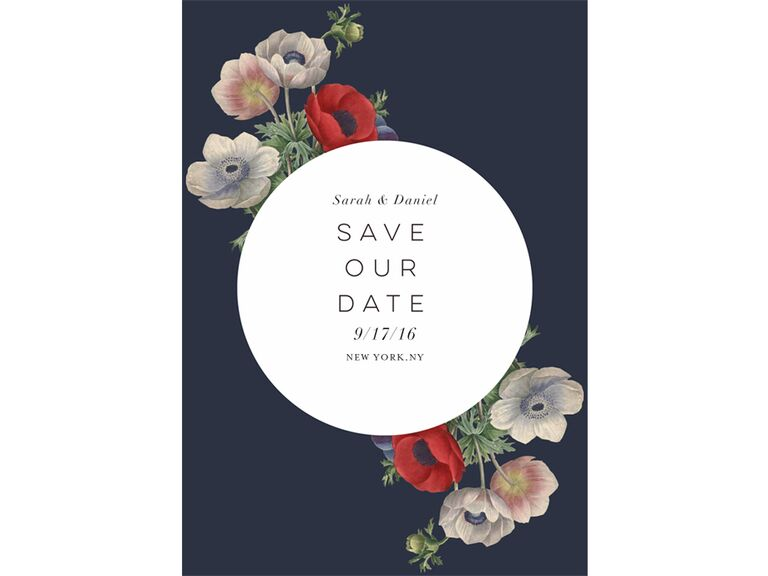 Wildflower designed save-the-date from Greenvelope