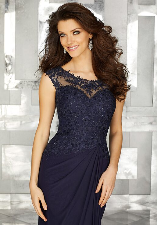 MGNY 71610 Blue Mother Of The Bride Dress