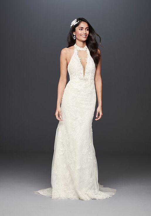 David's Bridal Galina Signature Style SWG825 Sheath Wedding Dress