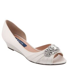 Nina Bridal Radha_Ivory Satin Blue, Silver, Gray, Champagne Shoe