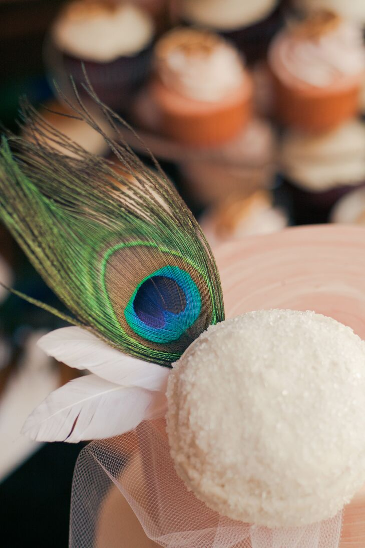 Colorful Peacock Feather Cake Topper