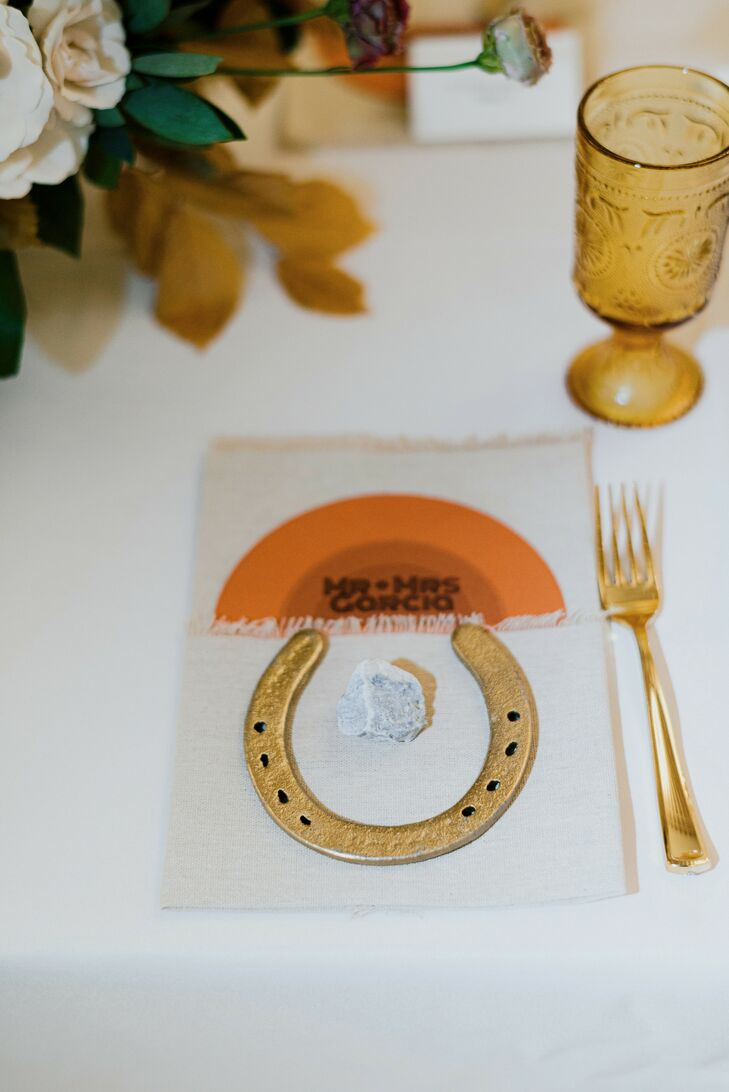 Horse Shoe Place Setting for Wedding at The Space HTX in Houston, Texas