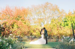 Bride and Groom Portraits for Wedding in Yountville, California