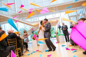 Bright Paper-Airplane Recessional Throws