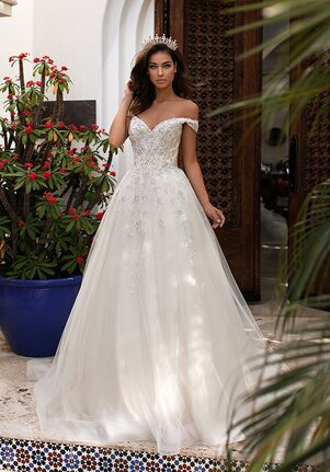 Moonlight Couture H1399 Ball Gown Wedding Dress