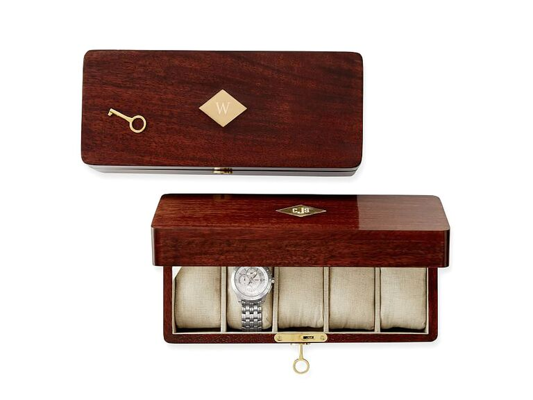 Mark and Graham Wood Watch Box wedding gifts for groom