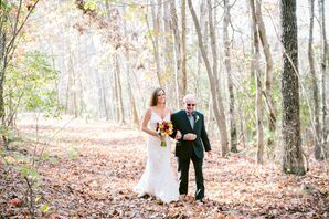 Intimate Georgia Woodland Wedding Ceremony