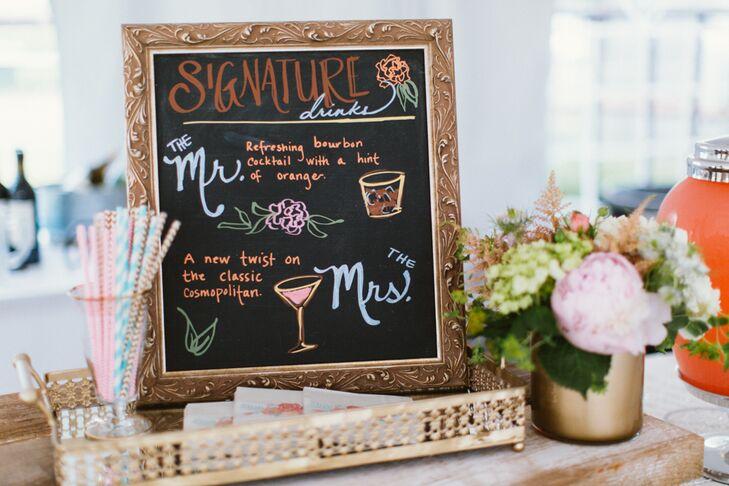 Chalkboard Signature Drink Menu