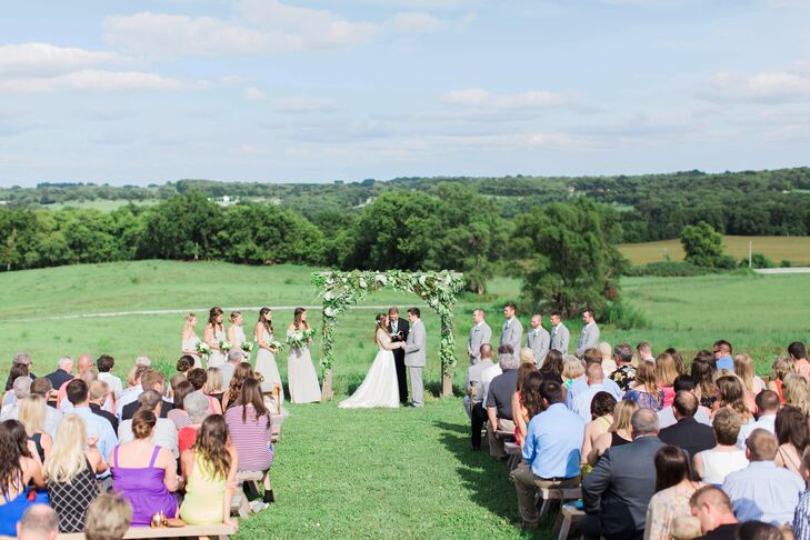 Outdoor Ceremony on Weston Red Barn Farm in Missouri