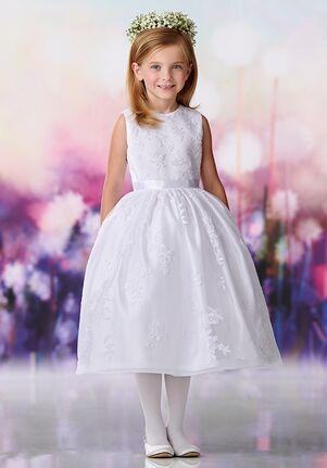 Joan Calabrese by Mon Cheri 119376 Pink Flower Girl Dress