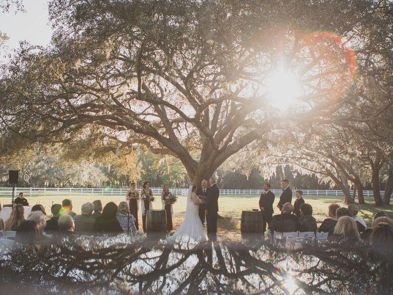 Wedding venue in Dade City, Florida.