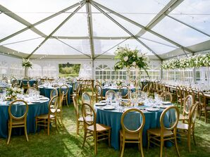 Natural Tented Reception at C Lazy U Ranch in Granby, Colorado