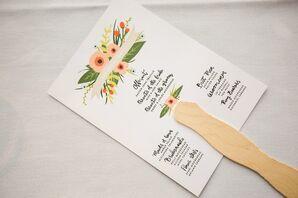 Summer Wedding Ceremony Program Fans