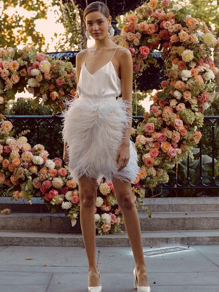 Lela Rose Mini Wedding Dress