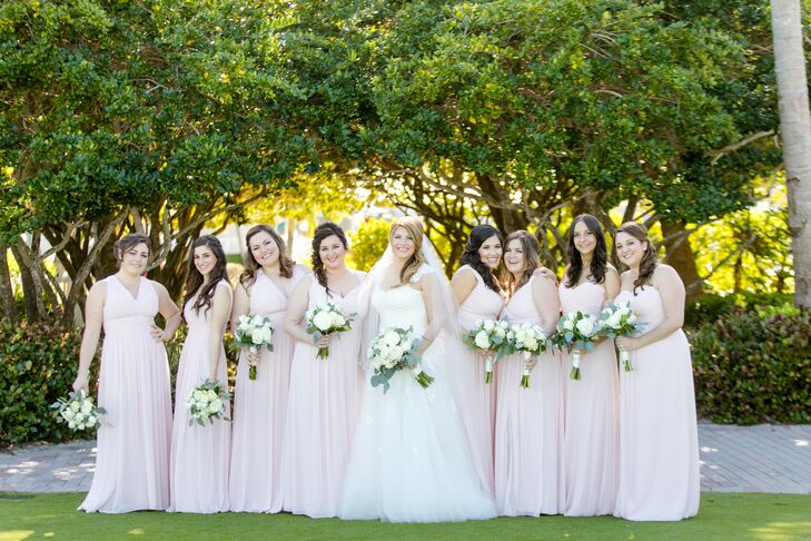 Simple, Blush Bridesmaid Dresses