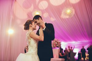 First Dance in Garden Getaway Reception Tent