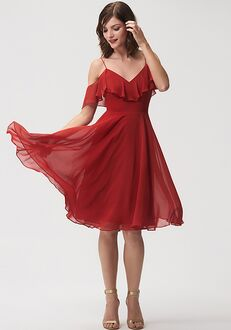 Jenny Yoo Collection (Maids) Kelli V-Neck Bridesmaid Dress