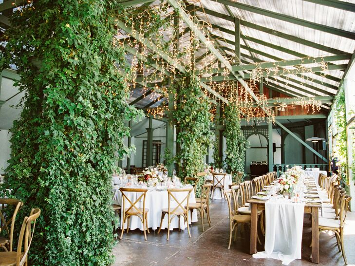 Romantic, Organic Garden Pavilion Reception