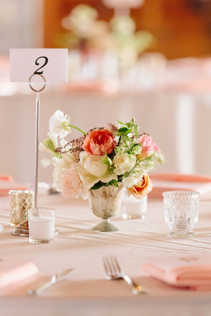 Small Floral Centerpiece in Silver Cup