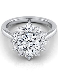 RockHer Glamorous Round Cut Engagement Ring