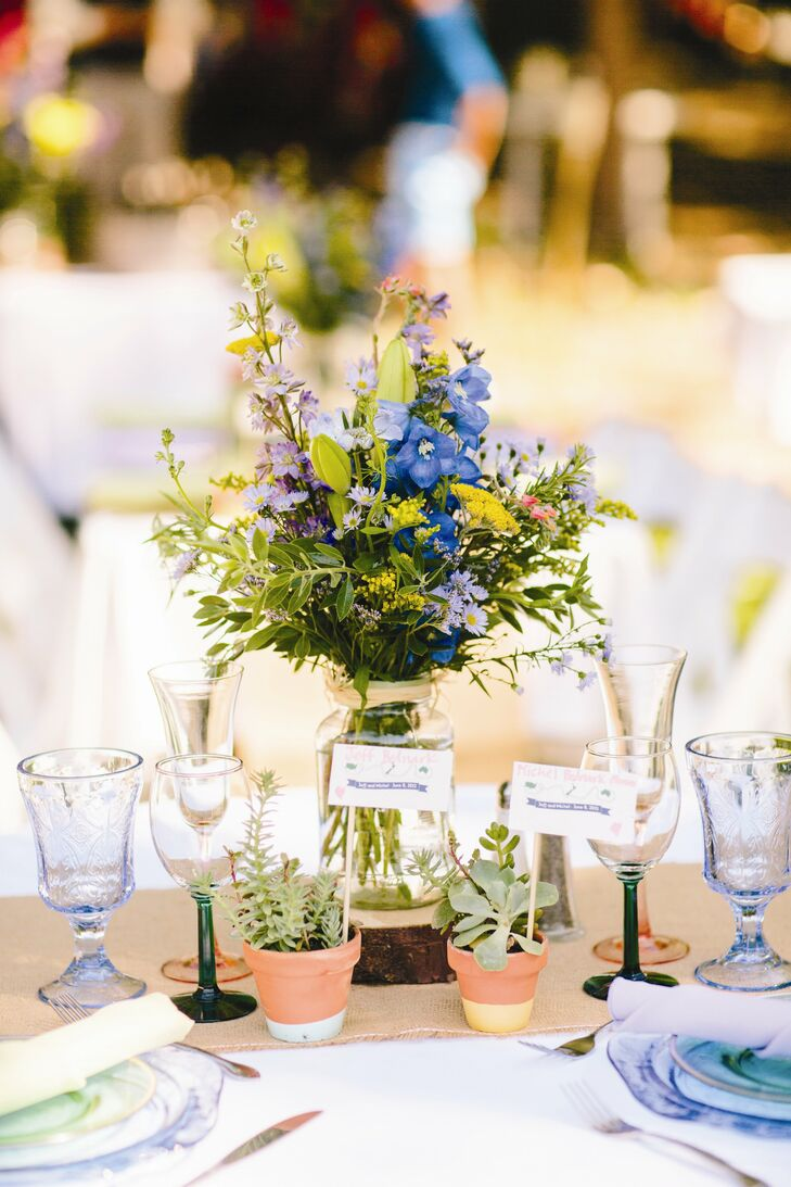 Wildflower Reception Centerpiece
