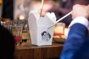 Thai Takeout Boxes with Personalized Labels