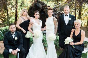 Refined Black-and-White Garden Wedding