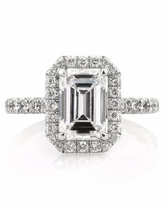 Mark Broumand Glamorous Emerald Cut Engagement Ring