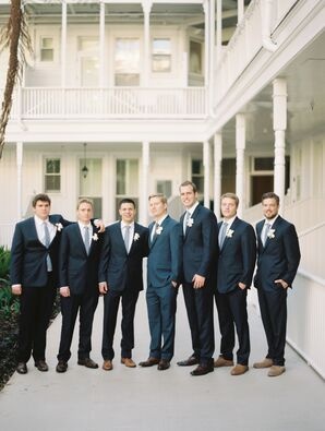 Classic Black Groomsmen Suits