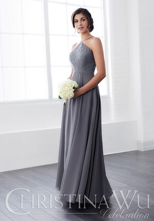 Christina Wu 22828 Halter Bridesmaid Dress