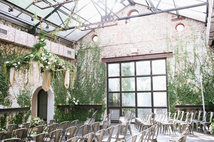 The Foundry Ivy-Covered Wedding Ceremony