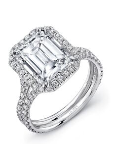 Uneek Fine Jewelry Unique Emerald Cut Engagement Ring