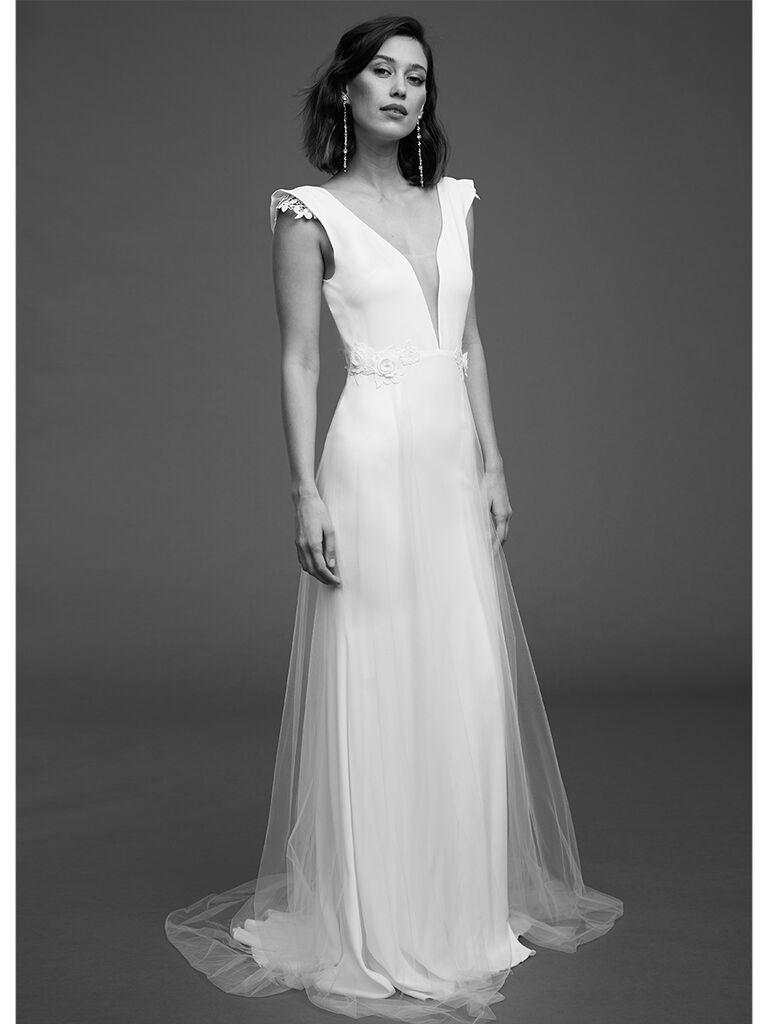 Rime Arodaky high waisted dress with V-neck