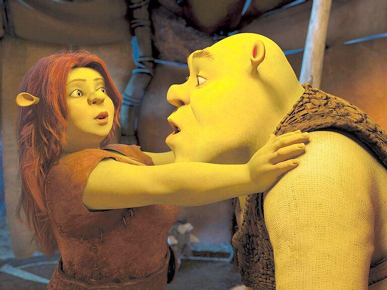 Shrek and Fiona famous cartoon couples