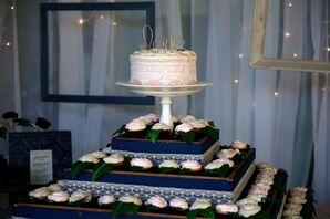 Rose Garden Blush Wedding Cake Display