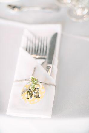 DIY Monogrammed Place Napkin Rings