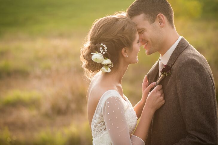 Lauren (26 and a pediatric nurse) and Craig (25 and working in the family business) held a romantic, God-centered wedding in the vineyard at Villa Mar