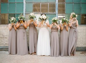 Floor-Length Amsale Bridesmaid Dresses