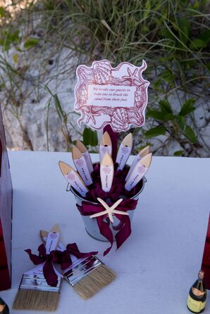 Paintbrushes for the Beach Ceremony