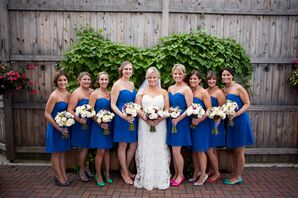 Strapless Royal Blue Bridesmaid Dresses