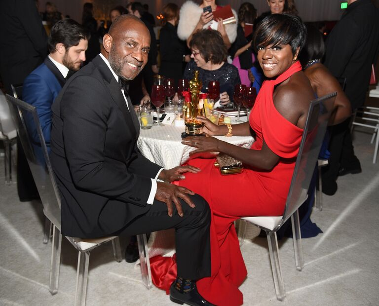 Julius Tennon and his wife Viole Davis at the 2017 Oscars Governors Ball