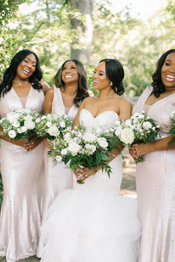 Bridal Party for Wedding at The Lace House in Columbia, South Carolina