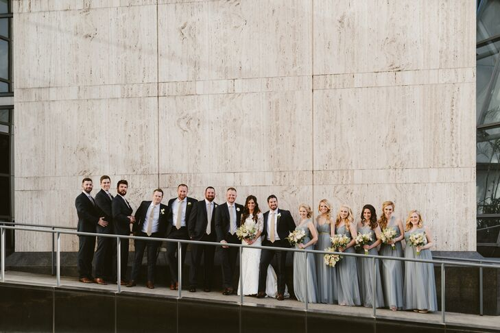Romantic Gray Jenny Yoo Bridesmaid Dresses