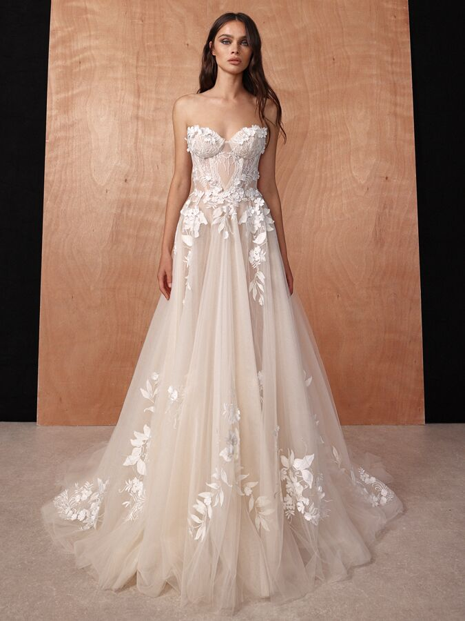 Gala by Galia Lahav strapless tulle ball gown