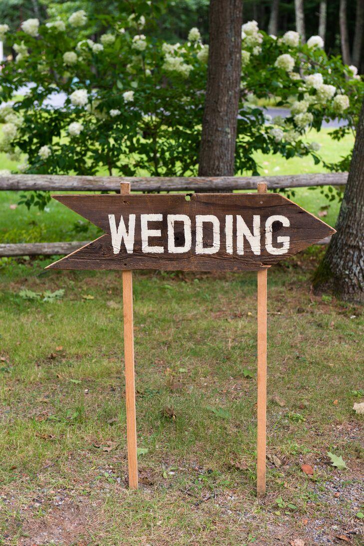 Rustic Arrow Wedding Sign